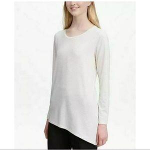 New Calvin Klein textured asymmetrical Top Shirt